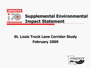 Supplemental Environmental Impact Statement