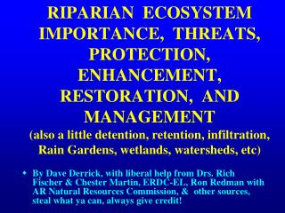 What are Riparian Areas?