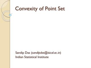 Convexity of  Point Set