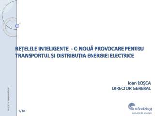 REŢELELE INTELIGENTE  -  O NOU Ă PROVOCARE PENTRU TRANSPORTUL ŞI DISTRIBUŢIA ENERGIEI ELECTRICE
