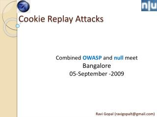 Cookie Replay Attacks