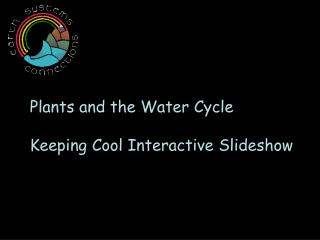 Plants and the Water Cycle   Keeping Cool Interactive Slideshow