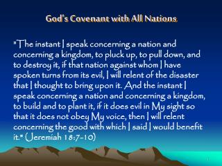 God's Covenant with All Nations