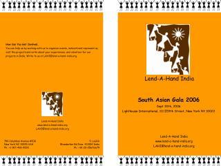 South Asian Gala 2006 Sept 30th, 2006 Lighthouse International, 111 E59th Street, New York NY 10022