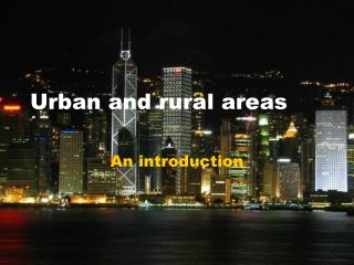 Urban and rural areas