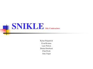 SNIKLE Site Contractors