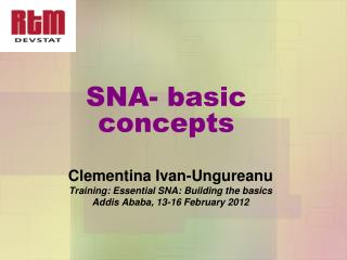 SNA- basic concepts