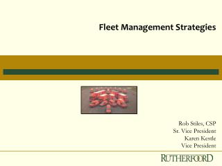 Fleet Management Strategies