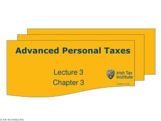 Advanced Personal Taxes