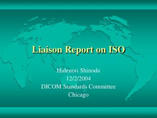 Liaison Report on ISO