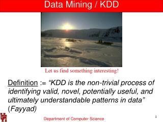 Data Mining / KDD