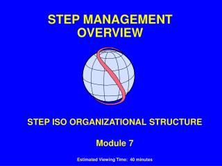 STEP ISO ORGANIZATIONAL STRUCTURE Module 7 Estimated Viewing Time:  40 minutes