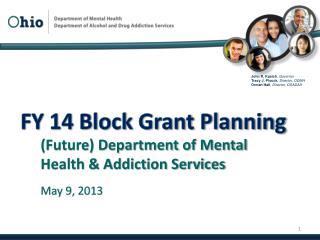 FY 14 Block Grant Planning