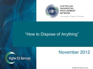 """""""How to Dispose of Anything"""""""