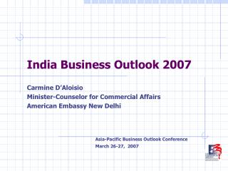 India Business Outlook 2007