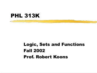 PHL 313K