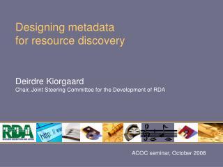 ACOC seminar, October 2008