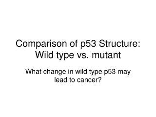 Comparison of p53 Structure: Wild type vs. mutant