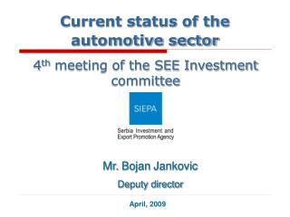 Current Status of the Automotive Sector