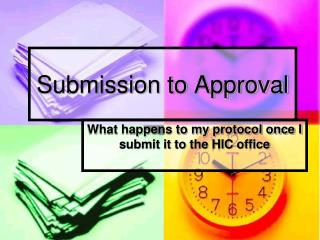 Submission to Approval