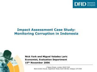 Impact Assessment Case Study: Monitoring Corruption in Indonesia