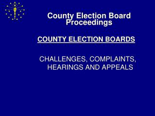 County Election Board Proceedings