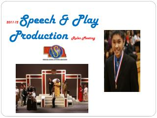 2011-12  Speech & Play Production  Rules Meeting