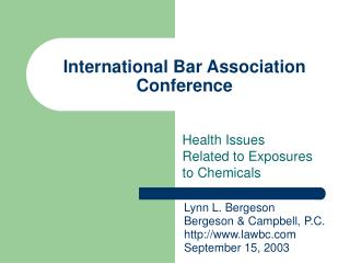 International Bar Association Conference