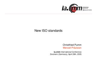 New ISO standards