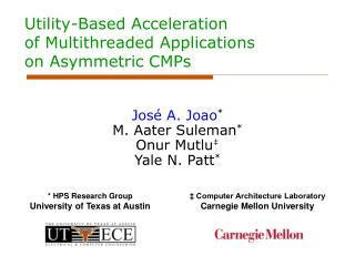 Utility-Based Acceleration  of Multithreaded Applications  on Asymmetric CMPs