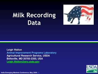 Milk Recording  Data