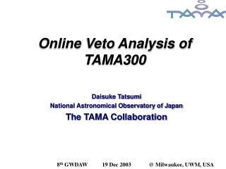 Online Veto Analysis of TAMA300