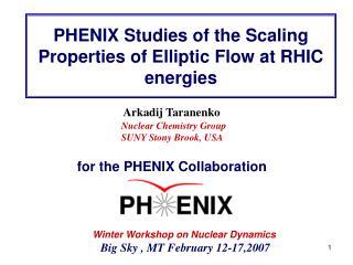PHENIX Studies of the Scaling Properties of Elliptic Flow at RHIC energies