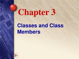Classes and Class Members