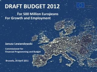 FOR 500 MILLION EUROPEANS