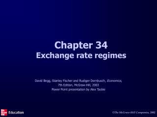 Chapter 34 Exchange rate regimes