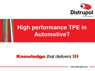 TPE in Automotive Applications
