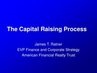 The Capital Raising Process