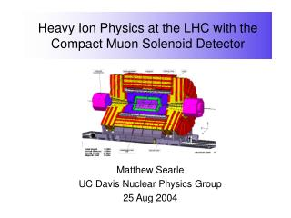 Heavy Ion Physics at the LHC with the Compact Muon Solenoid Detector