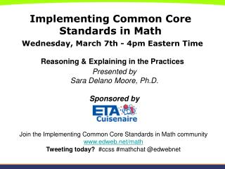 Implementing Common Core Standards in Math