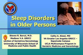 Sleep Disorders in Older Persons