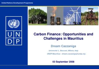 Carbon Finance: Opportunities and Challenges in Mauritius Dream Cazzaniga