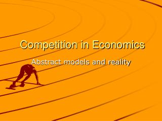 Competition in Economics