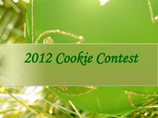2012 Cookie Contest