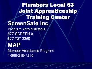 Plumbers Local 63  Joint Apprenticeship Training Center