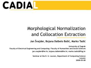 Morphological Normalization and Collocation Extraction