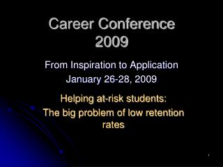 Career Conference 2009