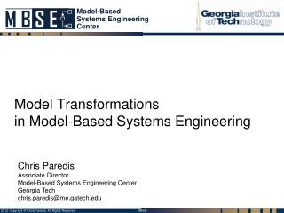 Model Transformations in Model-Based Systems Engineering