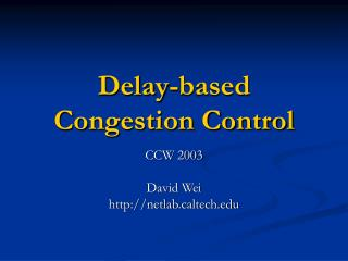 Delay-based Congestion Control