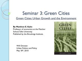 Seminar 3: Green Cities